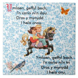 Welsh Nursery Rhyme / Hwiangerddi Tile