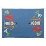 Welsh Placemat: Welsh Daffodils Dragon Leeks Harp Cloth Placemat