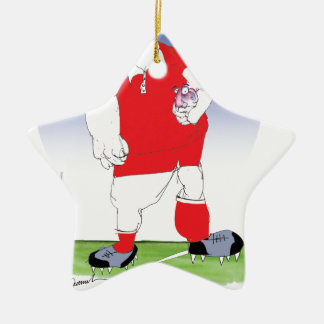 welsh player, tony fernandes ceramic ornament