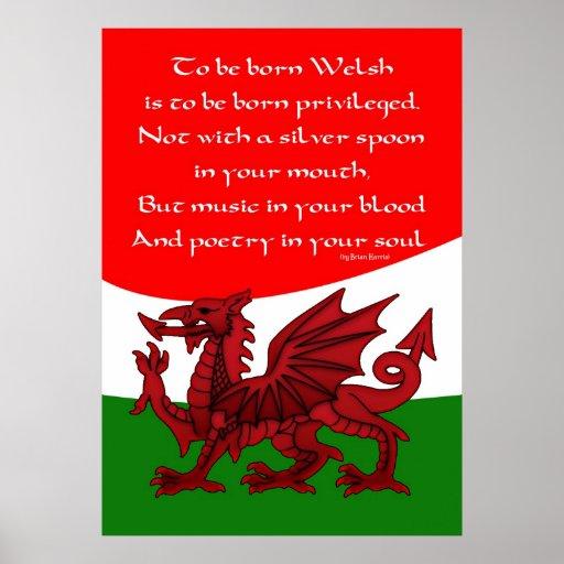 Welsh Poem Poster Print Dragon Zazzle