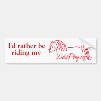 Welsh Pony & Cob Society of America Bumper Sticker