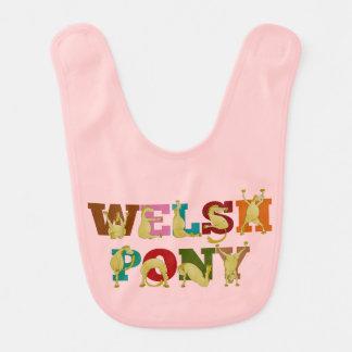 Welsh pony for girls bib
