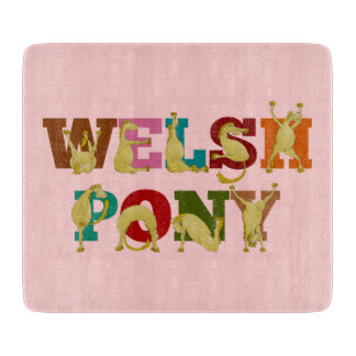 Welsh pony for girls cutting board