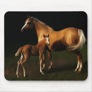 Welsh Pony Mare and Foal Mousepad