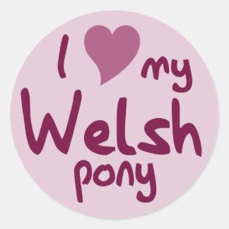 Welsh pony round sticker