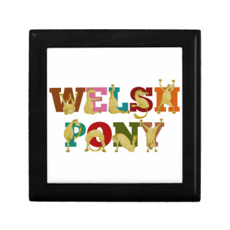 Welsh Pony with colorful text Keepsake Box