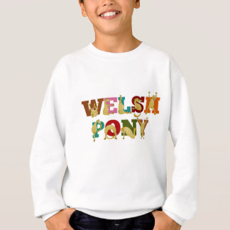 Welsh Pony with colorful text Sweatshirt