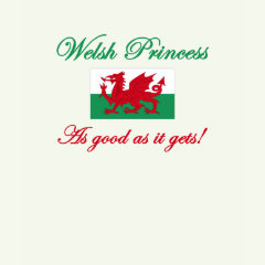 welsh princess t-shirts