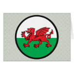 Welsh quality Flag Circle Greeting Cards