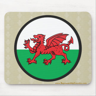 Welsh quality Flag Circle Mouse Pad