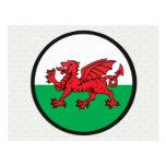 Welsh quality Flag Circle Postcards