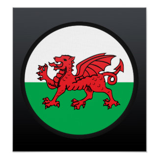 Welsh quality Flag Circle Poster