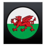 Welsh quality Flag Circle Posters