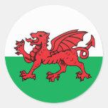 Welsh quality Flag Circle Sticker