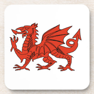 Welsh Red Dragon Cork Coaster