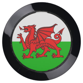 Welsh Red Dragon Green White Wales Flag USB Charging Station