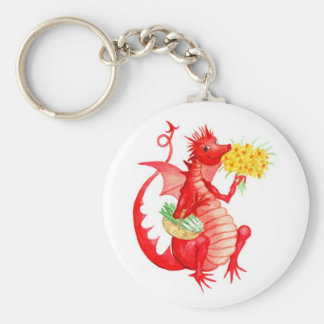 Welsh Red Dragon Keychain