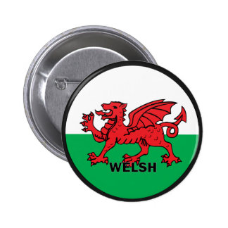 Welsh Roundel quality Flag 2 Inch Round Button