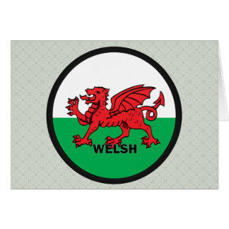 Welsh Roundel quality Flag Greeting Card