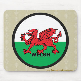 Welsh Roundel quality Flag Mouse Pad