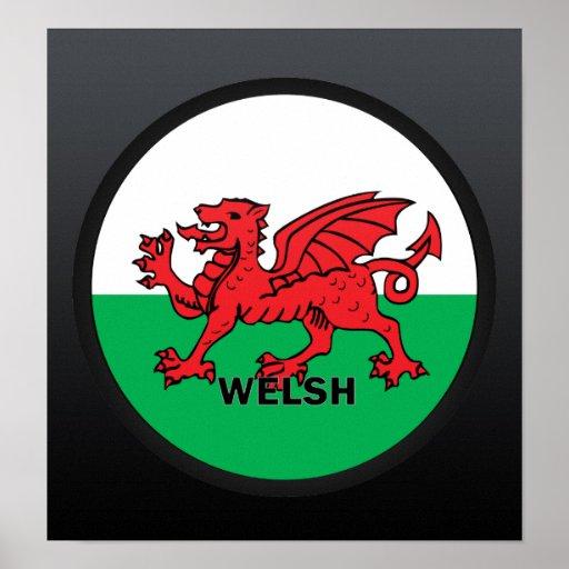 Welsh Roundel quality Flag Poster