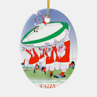 welsh rugby cheers, tony fernandes ceramic ornament