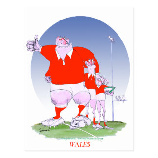 welsh rugby chums, tony fernandes postcard