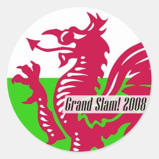 Welsh Rugby Grand Slam 2008 Sticker
