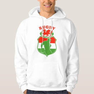 welsh rugby player wales red dragon shield sweatshirt
