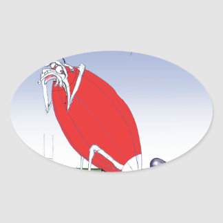 welsh rugby - put the boot in, tony fernandes oval sticker