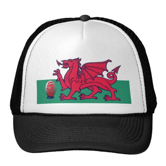 welsh rugby trucker hat