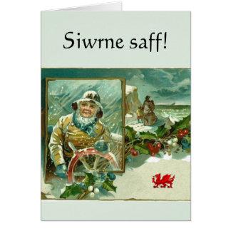 """Welsh """"Safe Journey"""" greeting Card"""