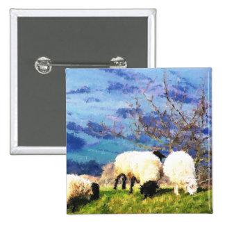 WELSH SHEEP PINBACK BUTTONS