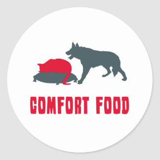 Welsh Sheepdog Round Stickers