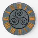 Welsh Slate Effect, Celtic, Faux Gold, Roman Figs. Large Clock (<em>$33.45</em>)
