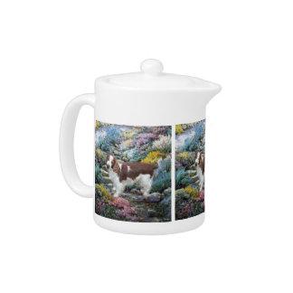 Welsh Springer Spaniel Art Gifts Teapot