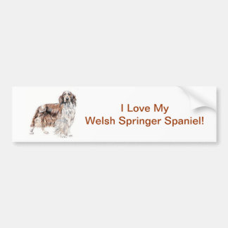 Welsh Springer Spaniel Bumper Stickers