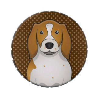 Welsh Springer Spaniel Cartoon Paws Jelly Belly Candy Tins