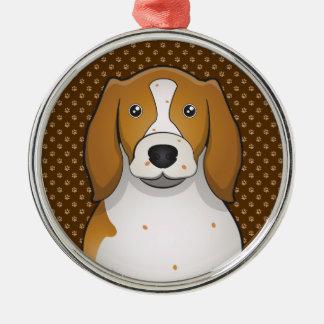 Welsh Springer Spaniel Cartoon Paws Metal Ornament