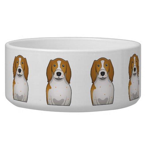 Welsh Springer Spaniel Cartoon Dog Food Bowls