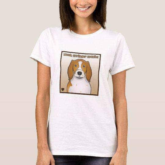 Welsh Springer Spaniel Cartoon T-Shirt