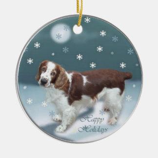 Welsh Springer Spaniel Christmas Gifts Ceramic Ornament