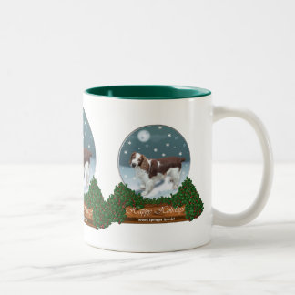 Welsh Springer Spaniel Christmas Gifts Two-Tone Coffee Mug