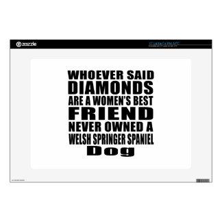 "WELSH SPRINGER SPANIEL DOG BEST FRIEND DESIGNS 15"" LAPTOP SKIN"