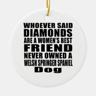 WELSH SPRINGER SPANIEL DOG BEST FRIEND DESIGNS CERAMIC ORNAMENT