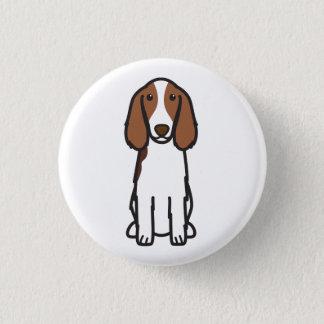 Welsh Springer Spaniel Dog Cartoon Button