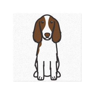 Welsh Springer Spaniel Dog Cartoon Gallery Wrapped Canvas