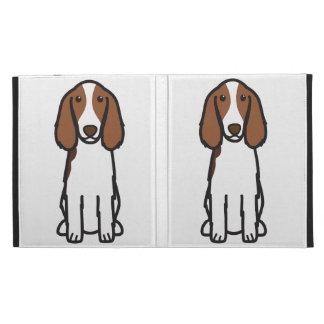 Welsh Springer Spaniel Dog Cartoon iPad Folio Covers