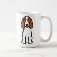 Welsh Springer Spaniel Dog Cartoon Coffee Mug