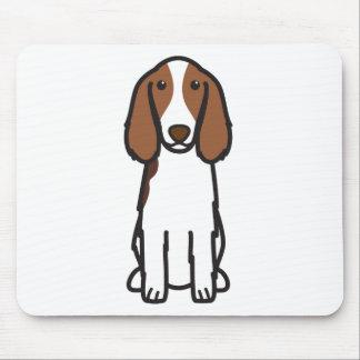 Welsh Springer Spaniel Dog Cartoon Mouse Pad